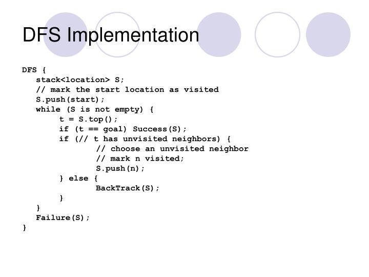 DFS Implementation