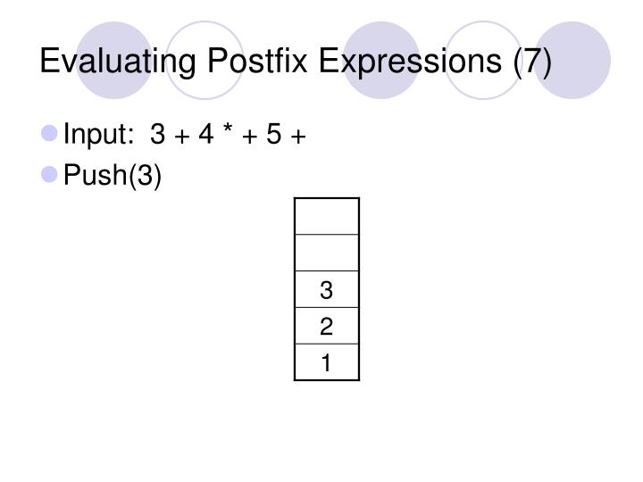 Evaluating Postfix Expressions (7)