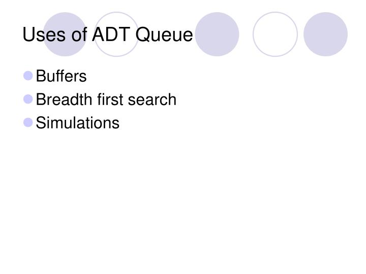 Uses of ADT Queue