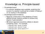 knowledge vs principle based
