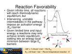 reaction favorability4