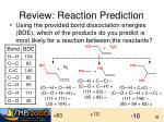 review reaction prediction1