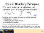 review reactivity principles