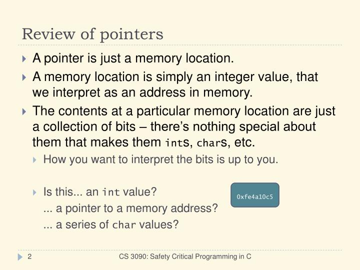 Review of pointers