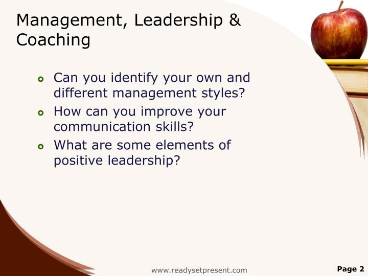 Management, Leadership & Coaching