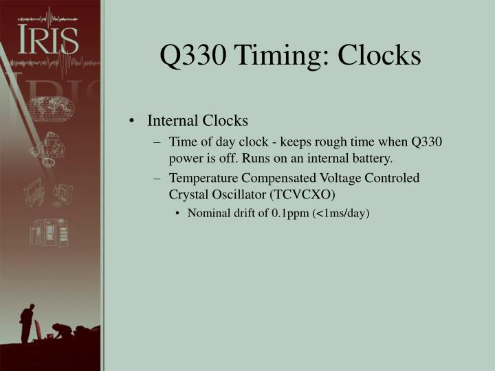 Q330 Timing: Clocks