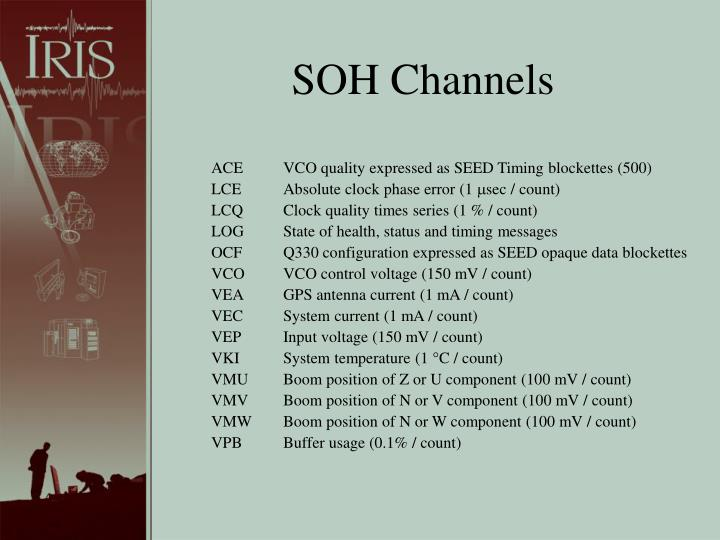 SOH Channels