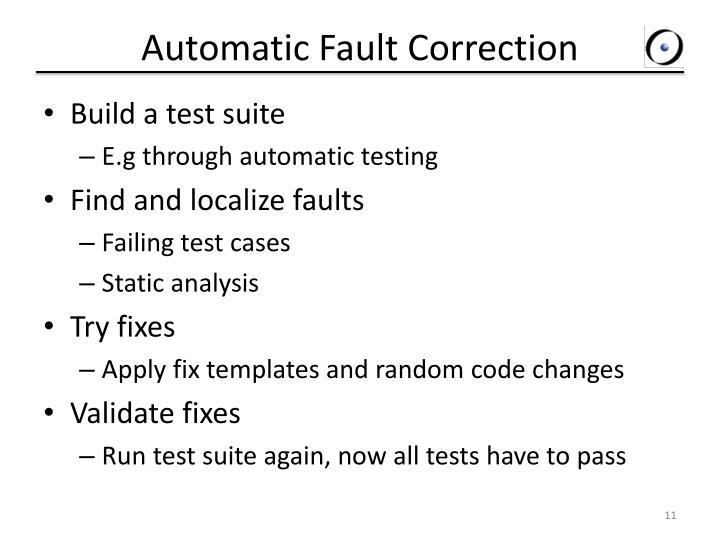 Automatic Fault Correction