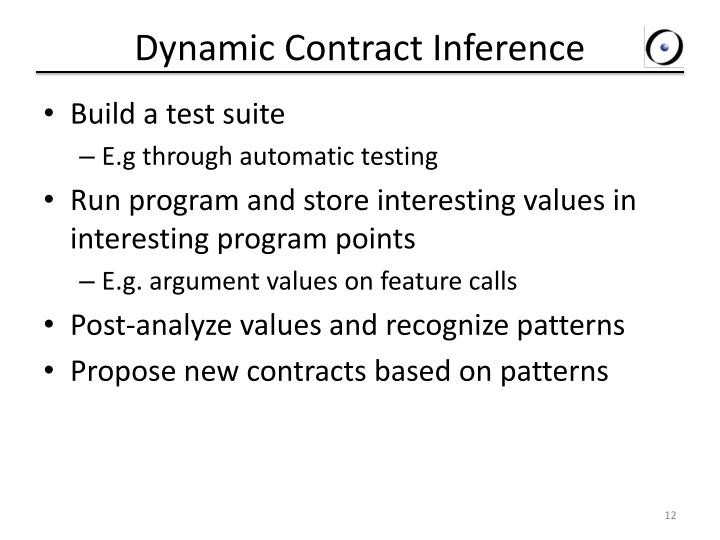 Dynamic Contract Inference