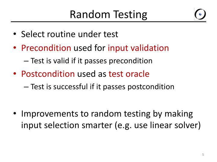 Random Testing