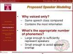 proposed speaker modeling1