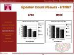 speaker count results htimit1