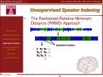 unsupervised speaker indexing