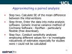 approximating a paired analysis1