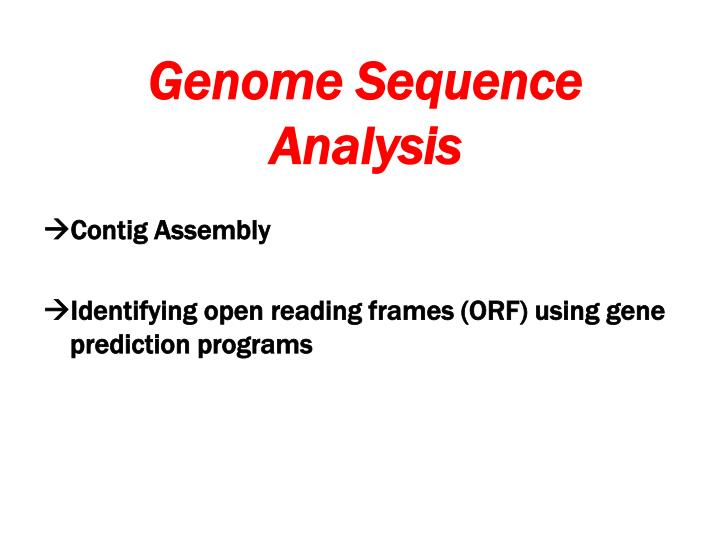 Genome Sequence Analysis