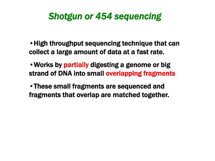 High throughput sequencing technique that can collect a large amount of data at a fast rate.
