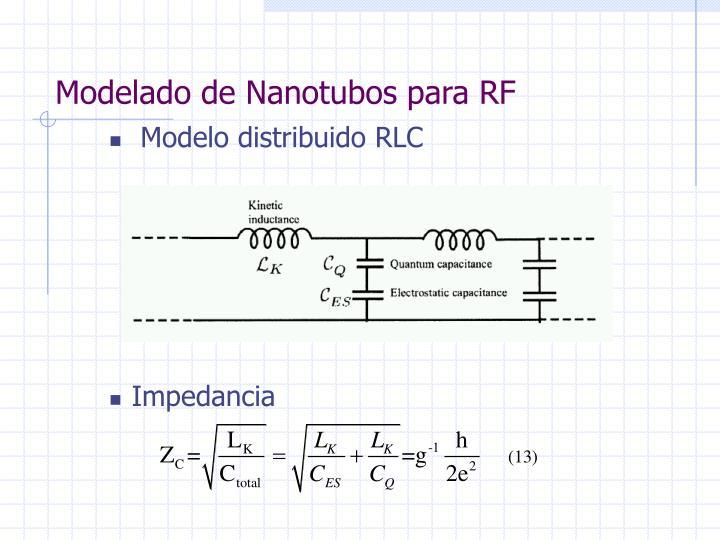 Modelado de Nanotubos para RF