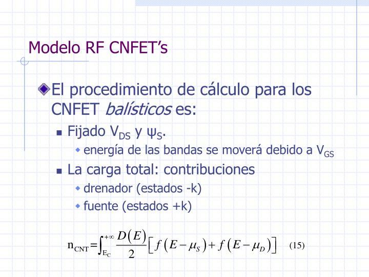 Modelo RF CNFET's