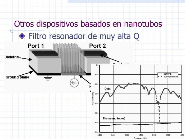 Otros dispositivos basados en nanotubos