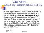 case report arslan g et al digestion 2006 73 111 115