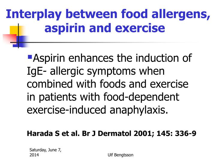 Interplay between food allergens,