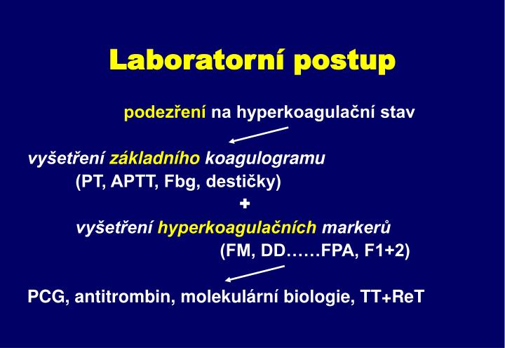 Laboratorní postup
