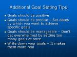 additional goal setting tips