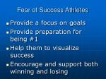 fear of success athletes