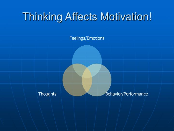 Thinking Affects Motivation!