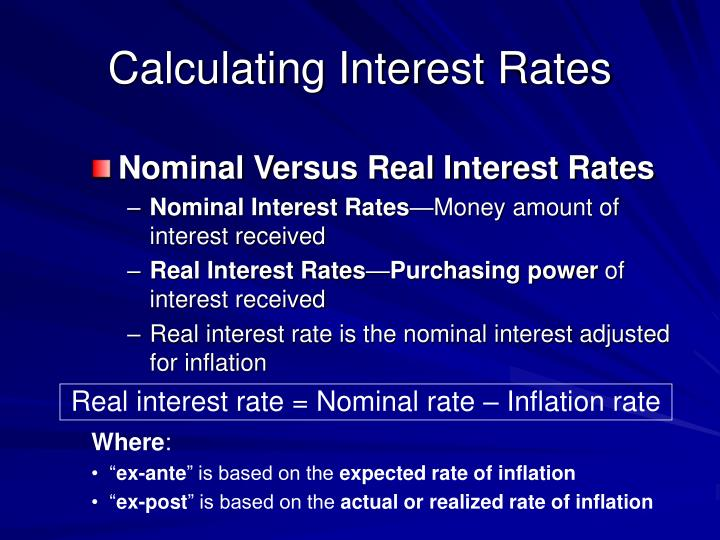 Calculating Interest Rates