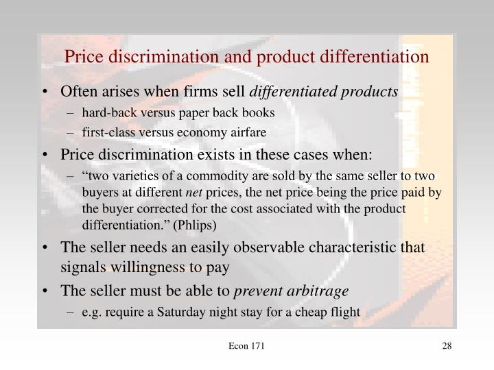 Price discrimination and product differentiation