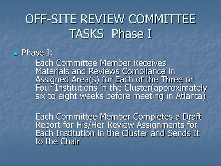 OFF-SITE REVIEW COMMITTEE