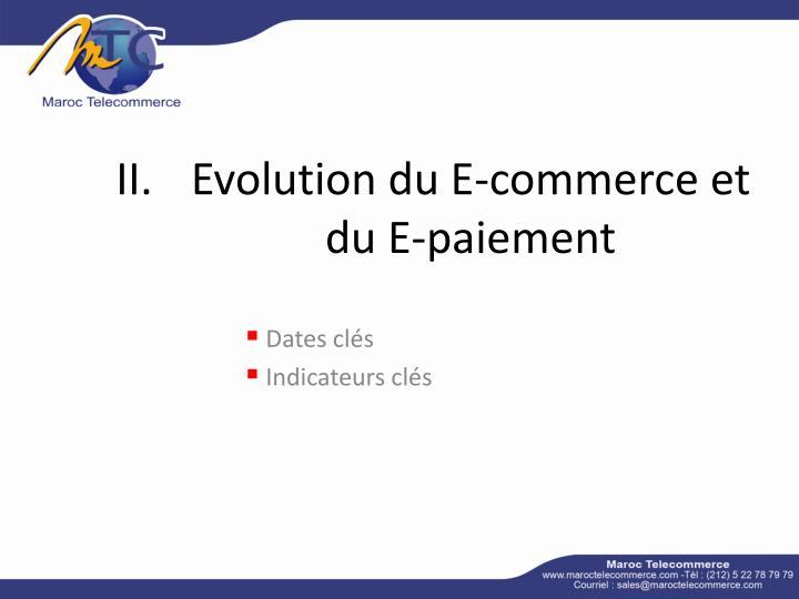 Evolution du E-commerce et du E-paiement