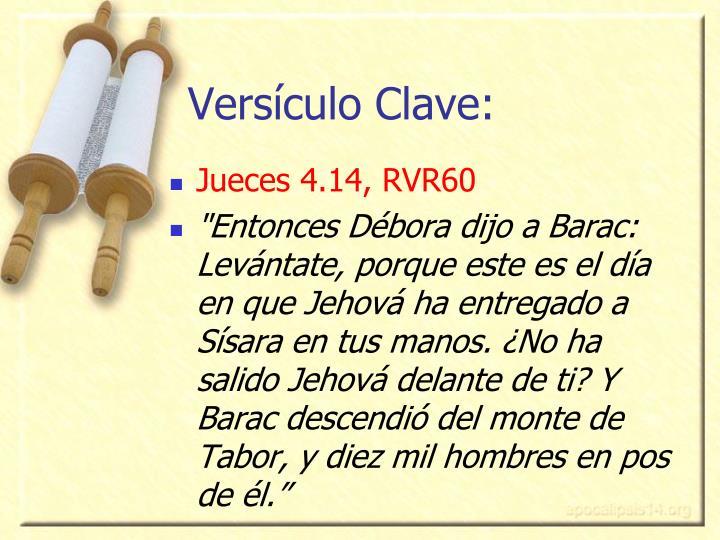Versículo Clave: