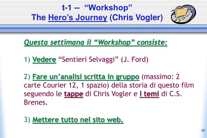 "t-1 --  ""Workshop"""