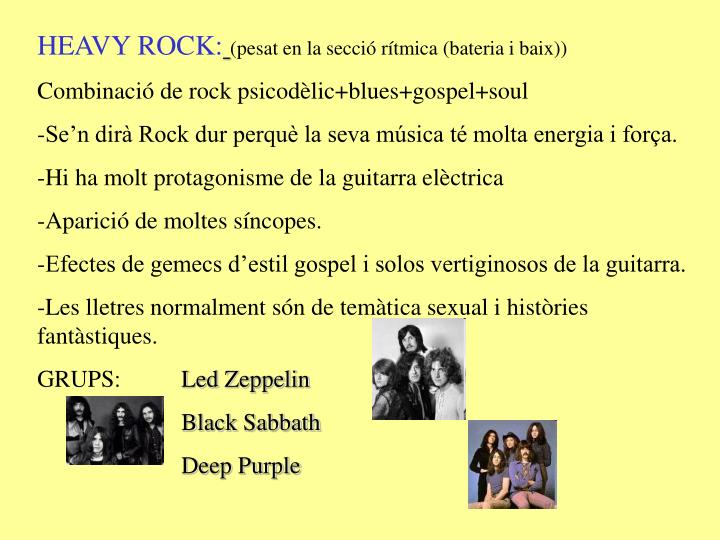 HEAVY ROCK: