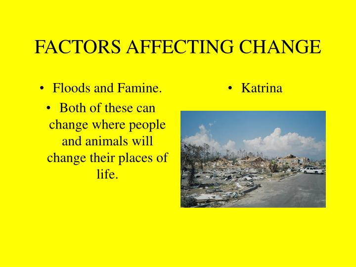 Floods and Famine.