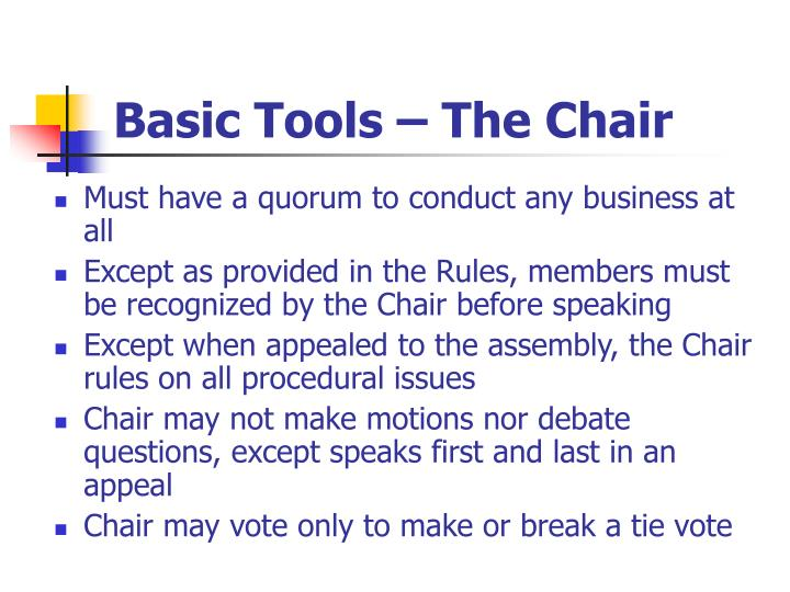 Basic Tools – The Chair