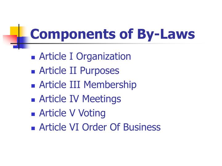 Components of By-Laws