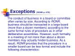 exceptions ronr p 470