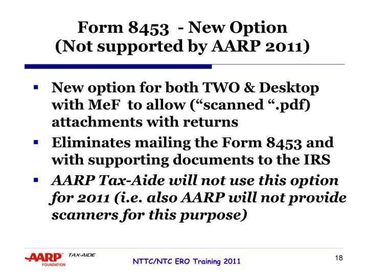 Form 8453  - New Option