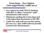 form 8453 new option not supported by aarp 2011
