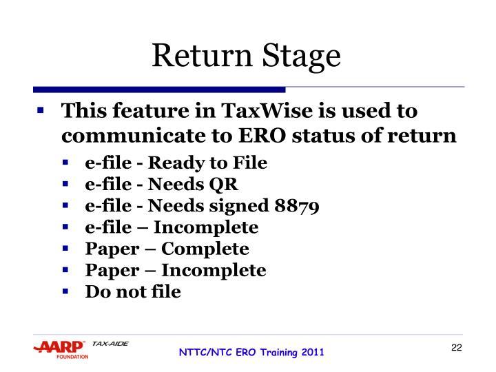 Return Stage