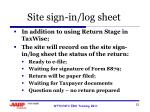 site sign in log sheet