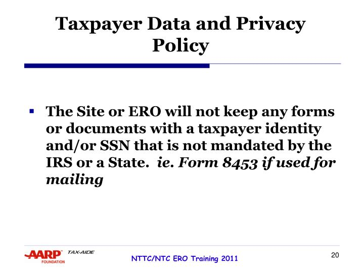Taxpayer Data and Privacy
