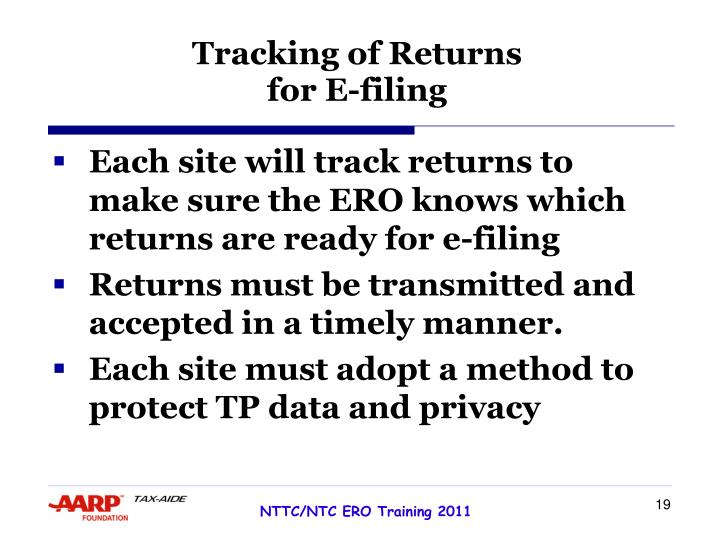 Tracking of Returns