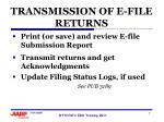 transmission of e file returns1