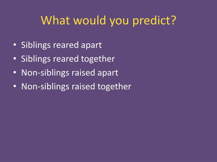 What would you predict?