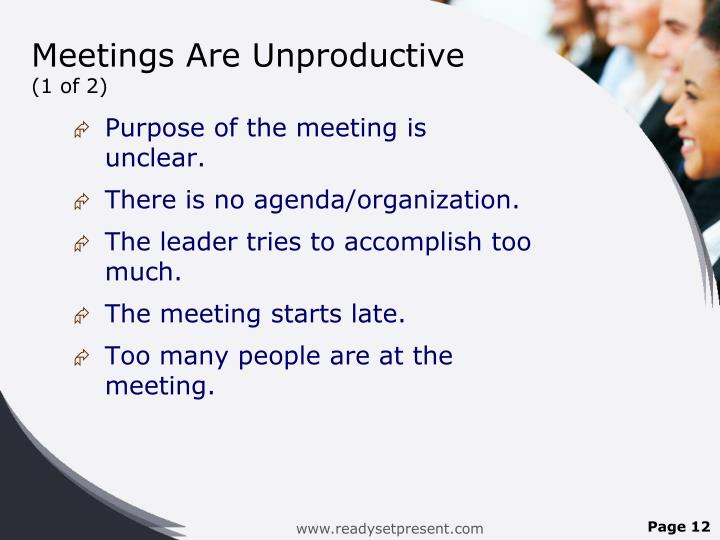 Meetings Are Unproductive