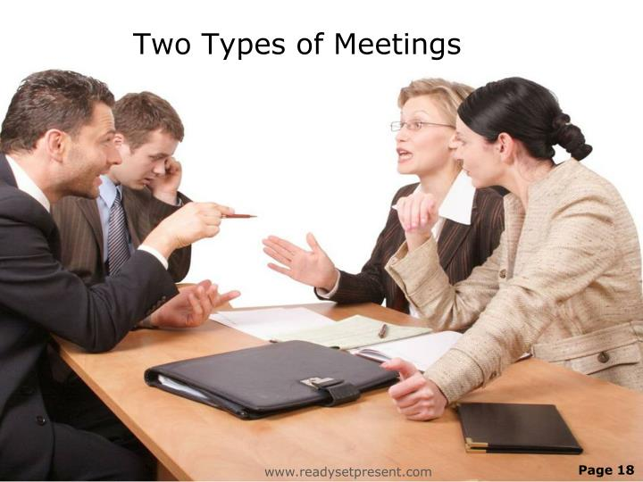 Two Types of Meetings